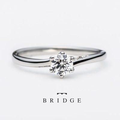 BRIDGEブリッジのシンプルかわいいエンゲージリング未来への船出
