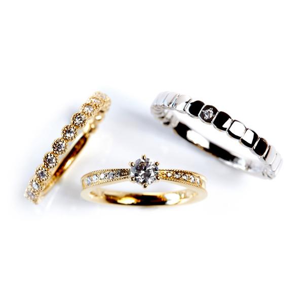 クラシカルでおしゃれなデザインで女性に人気の結婚指輪婚約指輪マリッジリングエンゲージリングセットリングはRosette