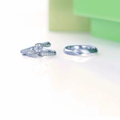 新潟でお花モチーフの結婚指輪を探すならLAPAGEラパージュのフルールコレクションのマルグリットマーガレットがかわいい