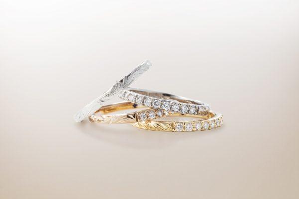 ハワイアンジュエリーの結婚指輪婚約指輪のブランドMAKANAマカナのダイヤモンドエタニティリング
