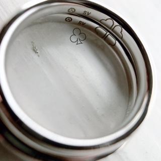 結婚指輪 合わせ刻印 クローバー