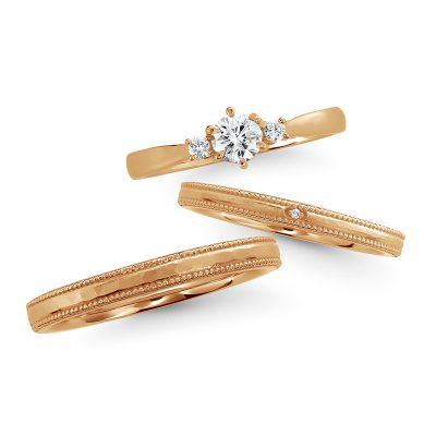 大人気のサンリオキャラクターキティちゃんをモチーフにした婚約指輪と結婚指輪のセットリング