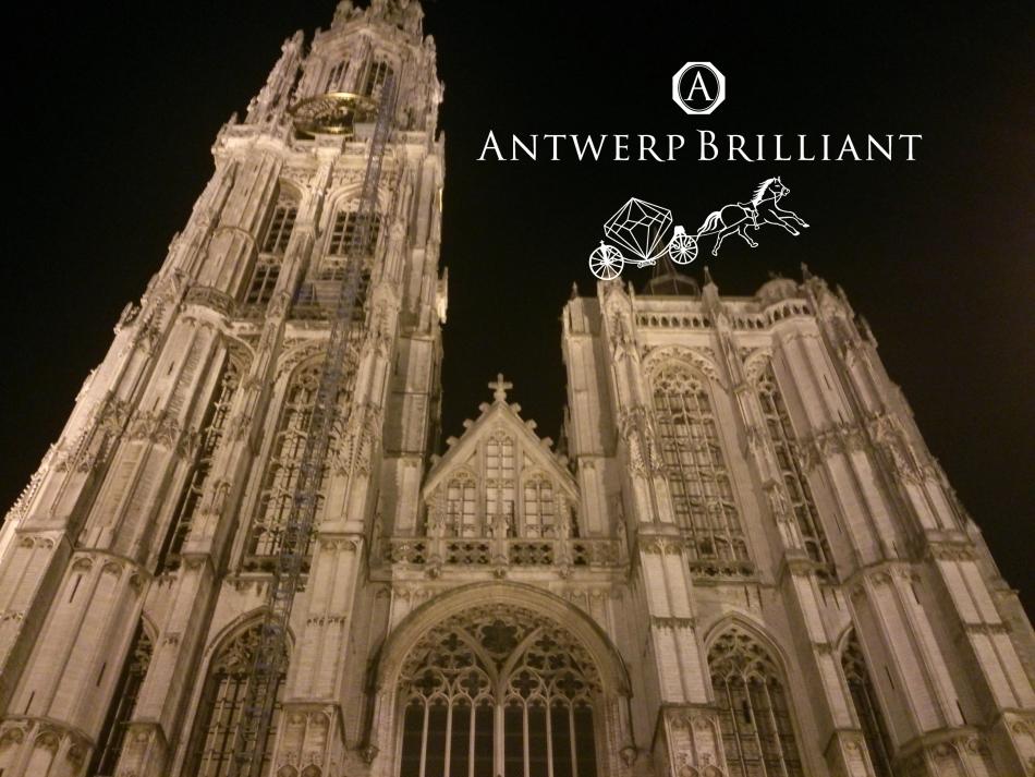 ノートルダム寺院ベルギーアントワープBROOCHのダイヤモンド