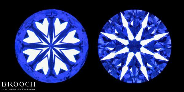 キレイなカットの証でもあるハート&キューピッドがキレイに見えるダイヤモンドが見たい方は新潟のBROOCHへ
