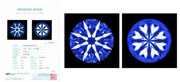 ブローチのダイヤモンドはベルギー研磨ハート&キューピッド