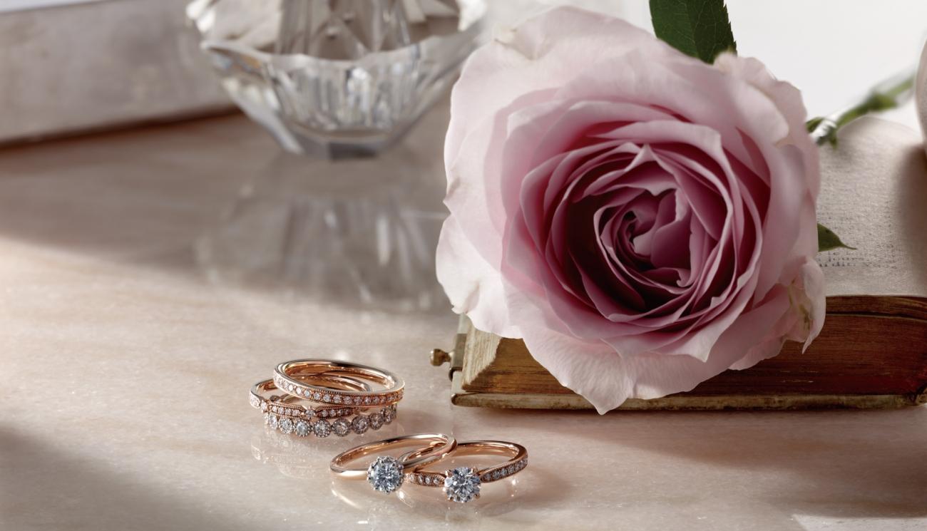 婚約指輪 結婚指輪 指輪 アンティーク 薔薇 お花