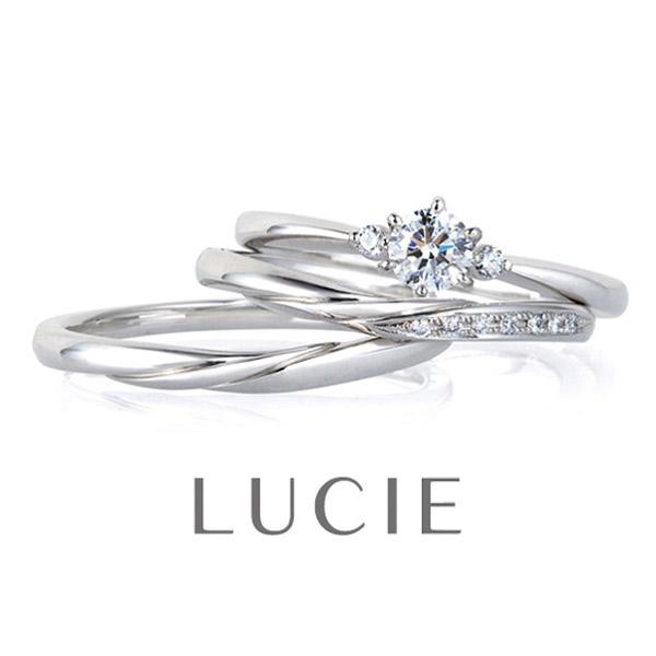 シンプルで大人可愛いセットリングマリッジリングエンゲージリング結婚指輪婚約指輪はBROOCH取り扱いのLUCIEルシエSerene・Rippleセリーンリップル