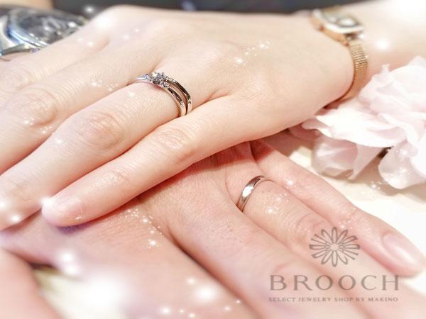 ムーンロードでプロポーズ♡ロゼットの「月あかり」マリッジリング