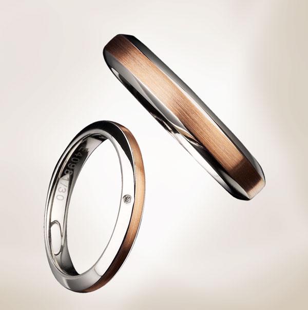 シンプルで使いやすいユーロウエディングバンドの結婚指輪