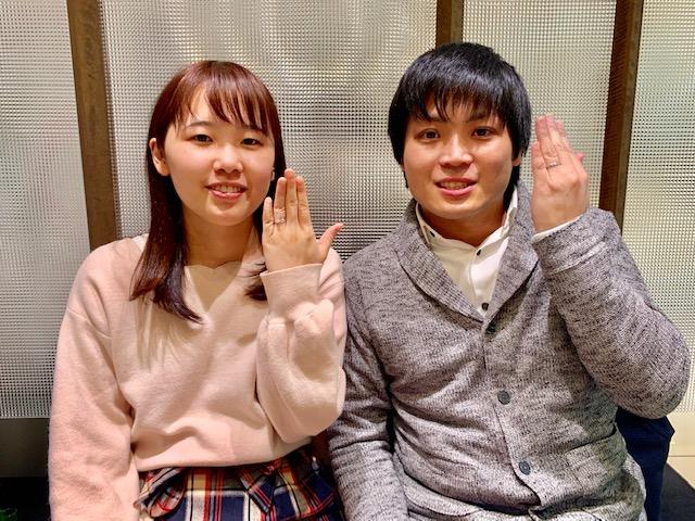 サプライズプロポーズの場所は「回るレストラン」!?ステキなTASAKIのリングをお持ちいただきました!
