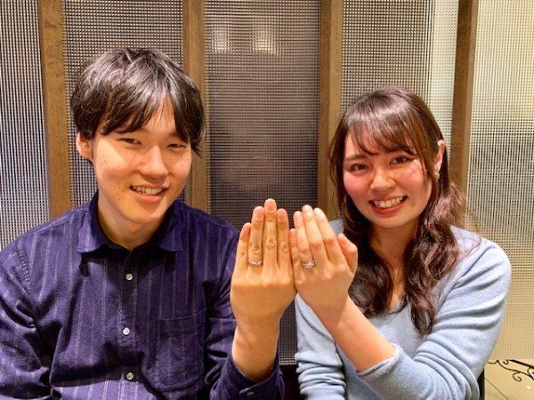 NIWAKA俄のセットリング「初桜」に永遠に巡る想いを込めてお持ちいただきました!