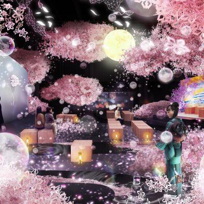 室内でお花見!?体験できるお花見でロマンチックなサプライズ!!