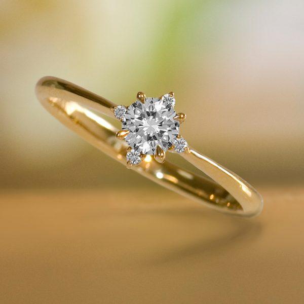 クラシカルな婚約指輪