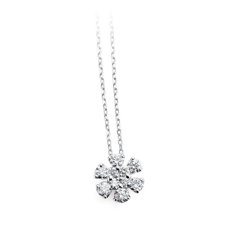 お花がカワイイデザインのネックレス記念日にサプライズするならスイートテンダイヤモン