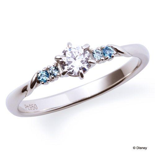 ディズニー ディズニープリンセス シンデレラ セットリング 重ね着け 婚約指輪 結婚指輪 エンゲージリング マリッジリング アクアブルートパーズ サムシングブルー ディズニーシンデレラ ディズニーの婚約指輪 ガラスの靴
