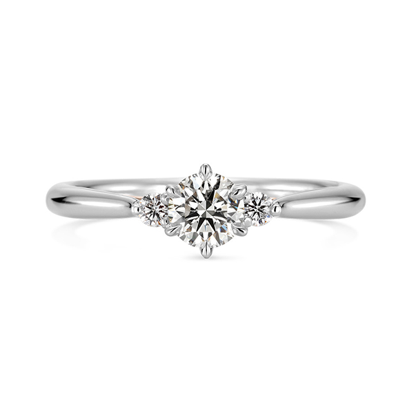 シンプルだけど、横から見ると笑われるリボンがとってもかわいいK.unoケイウノの婚約指輪エンゲージリング