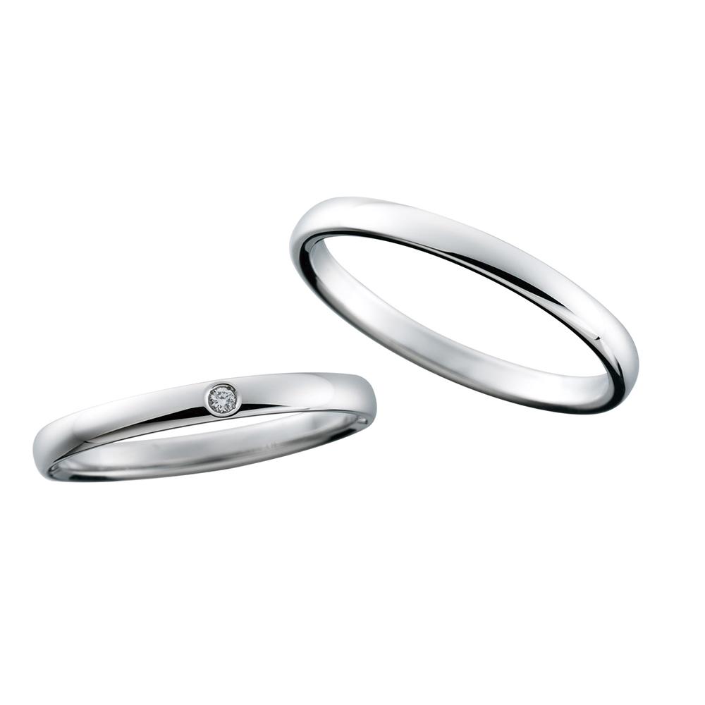 細身のシンプルデザインにふたりの誓いを託したnocurノクルのマリッジリング結婚指輪