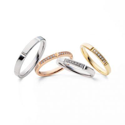 新潟で結婚指輪婚約指輪を探しているならBROOCHブローチで取り扱いブランドのフラージャコーのセミオーダーシステムリングディビデュエルがおふたりの好みに合わせてお作りできるのでおすすめ