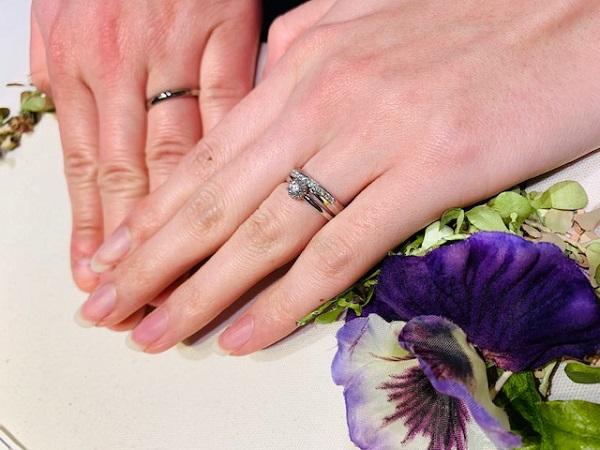 クリスマスにサプライズプロポーズ♡結婚指輪は「経糸と緯糸 綾なす美しき仲」俄の綺羅