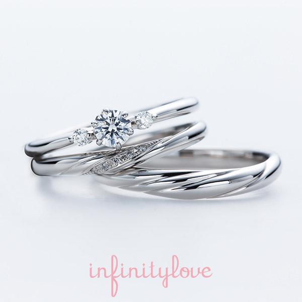 花モチーフの可愛い婚約指輪結婚指輪ならInfinityloveのJasmine