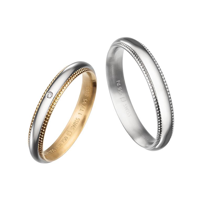 新潟結婚婚約マリッジ鍛造リング指輪BROOCHブローチフラージャコーFURRER-JACOTスイスメイド