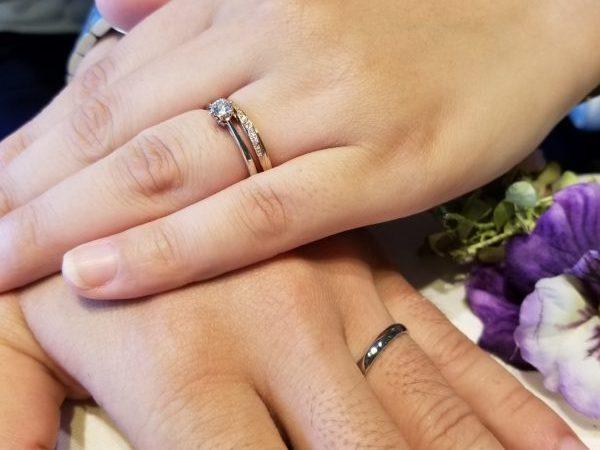 Instagramで一目見てから婚約指輪はLAPAGE(ラパージュ)天使のハープに決めていました!