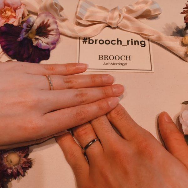 新潟結婚婚約指輪マリッジエンゲージリングBROOCHブローチBRIDGEブリッジ銀座まろぎダイヤモンドクラウンセッティング新婚花嫁ブライダル