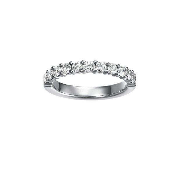 ハーフエタニティ結婚指輪