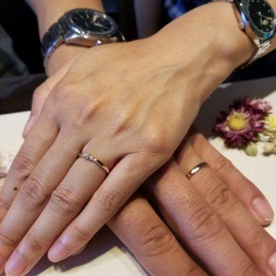 新潟結婚婚約マリッジエンゲージ指輪リングブライダルルシエLUCIEロズレBROOCH ブローチGUCCIペアウォッチ