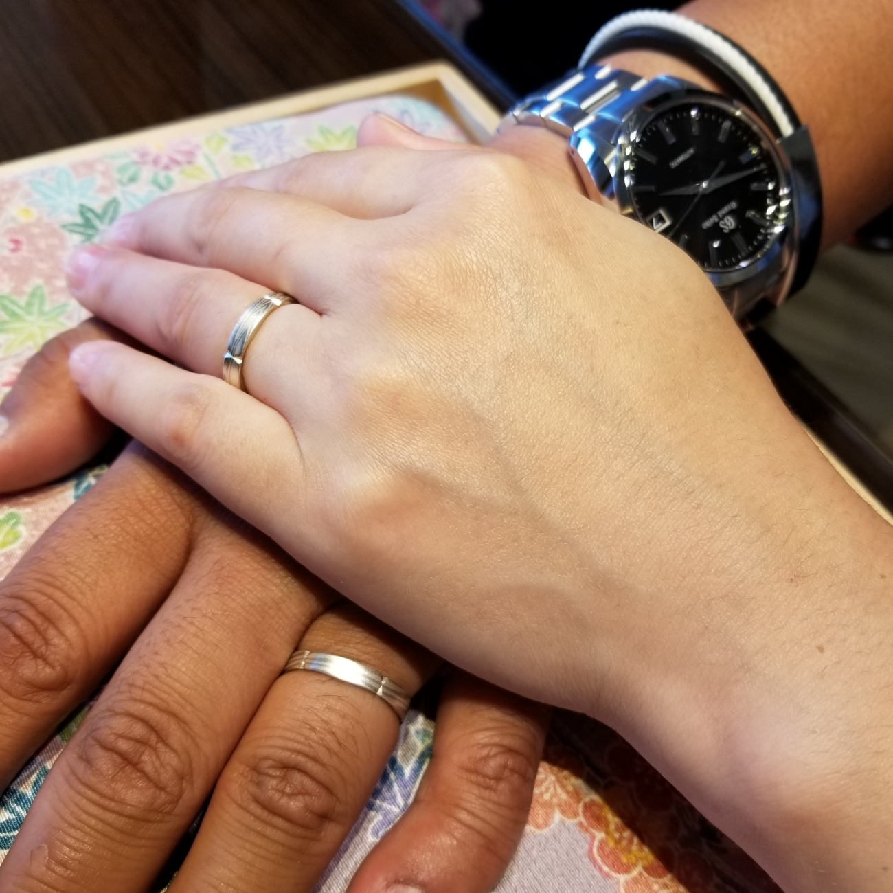 新潟結婚婚約マリッジエンゲージ和風ジャパン杢目木目杢目金屋mokumeganeyaBROOCHブローチ和装