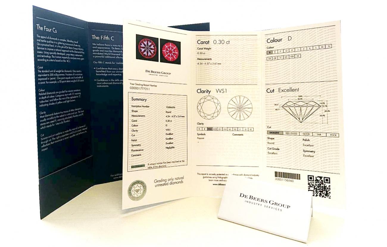 ダイヤモンドのエキスパート、デビアスグループでは産地証明にも取り組む