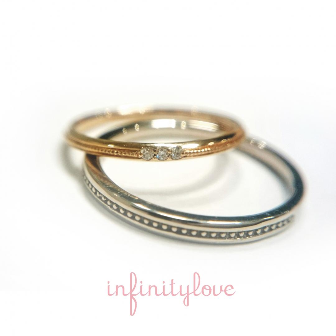 infinitylove インフィニティラブ マリッジリング エンゲージリング 結婚指輪 婚約指輪 drop ドロップ 雫 しずく かわいい シンプル ゴールド ダイヤモンド