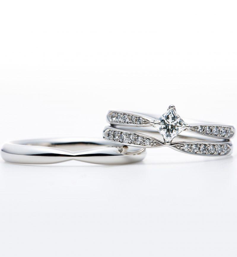 プリンセスカットエンゲージリング プリンセスカットダイヤモンド セットリング シリウス 婚約指輪 結婚指輪 新潟 BROOCH ANTWERP BRILLIANT
