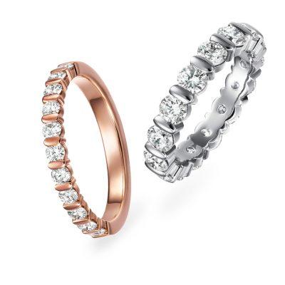 新潟でダイヤモンドが美しいエタニティリングをお探しならダイヤモンド専門店新潟市中央区紫竹山のジュエリーショップBROOCH(ブローチ)へ