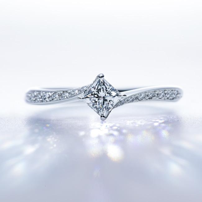 トリプルエクセレント・プリンセスカット・ダイヤモンド01