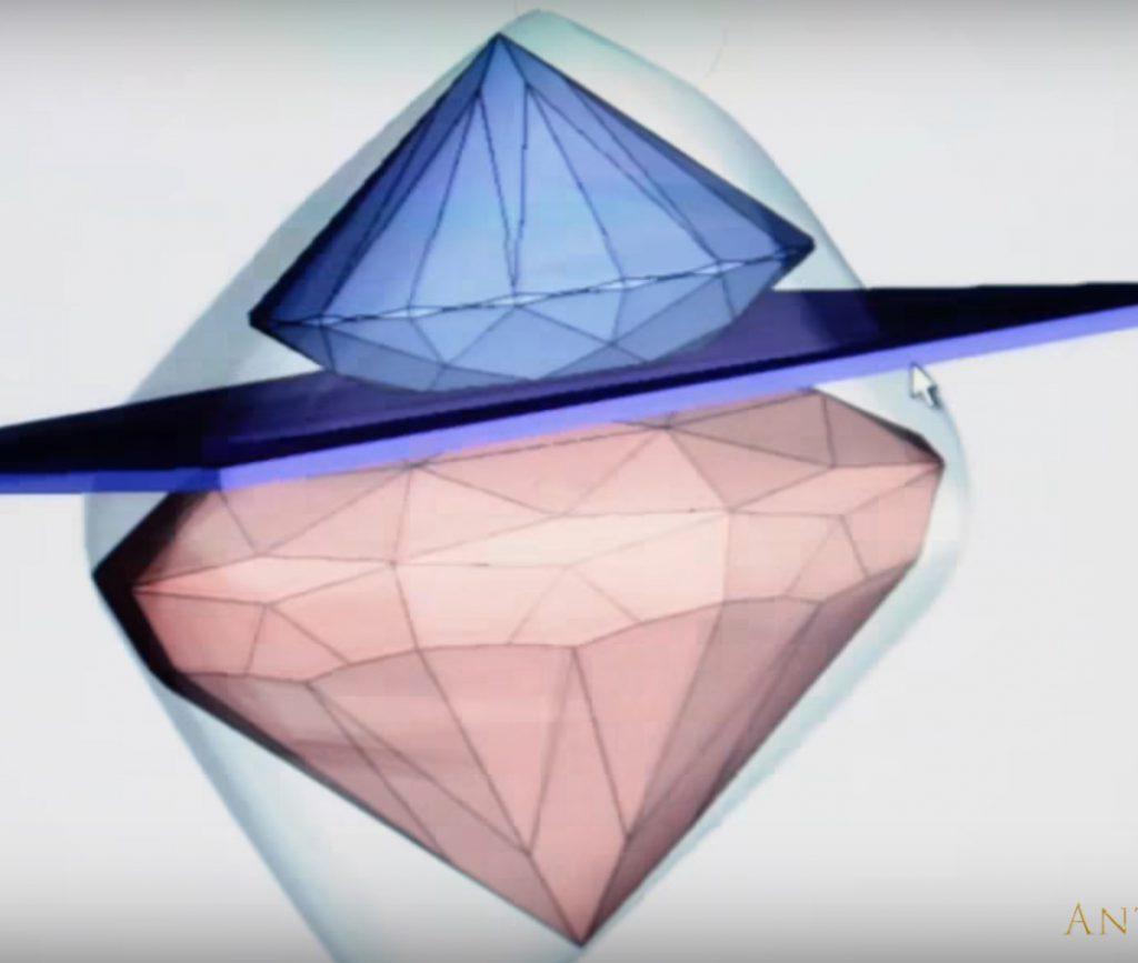 ダイヤモンドは研磨プランを決めてからカットされる