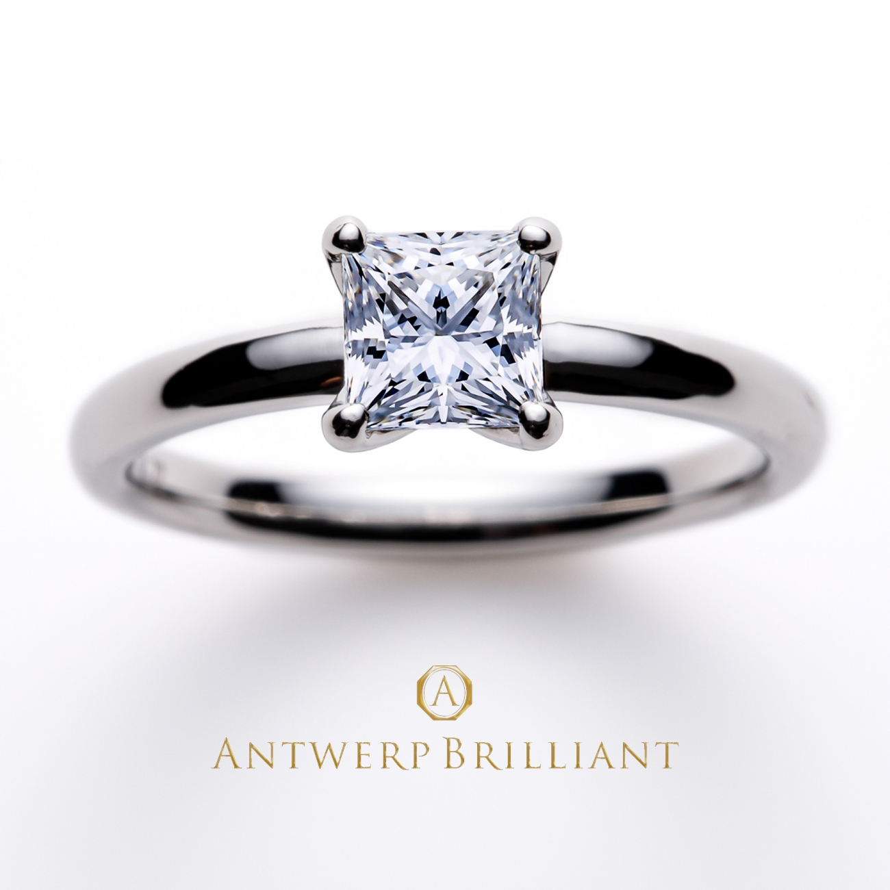 """Asterism""Princess Cut Solitaire Diamond Ring"