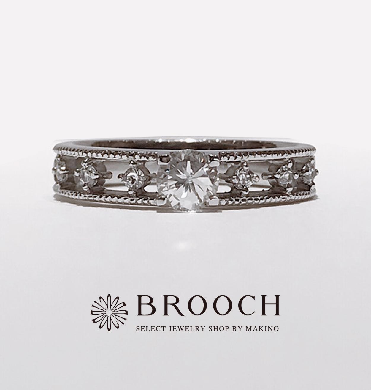BROOCH 婚約指輪 エンゲージリング 透かしデザイン