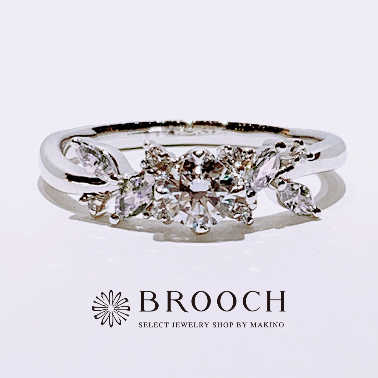 BROOCH 婚約指輪 エンゲージリング 花冠風デザイン