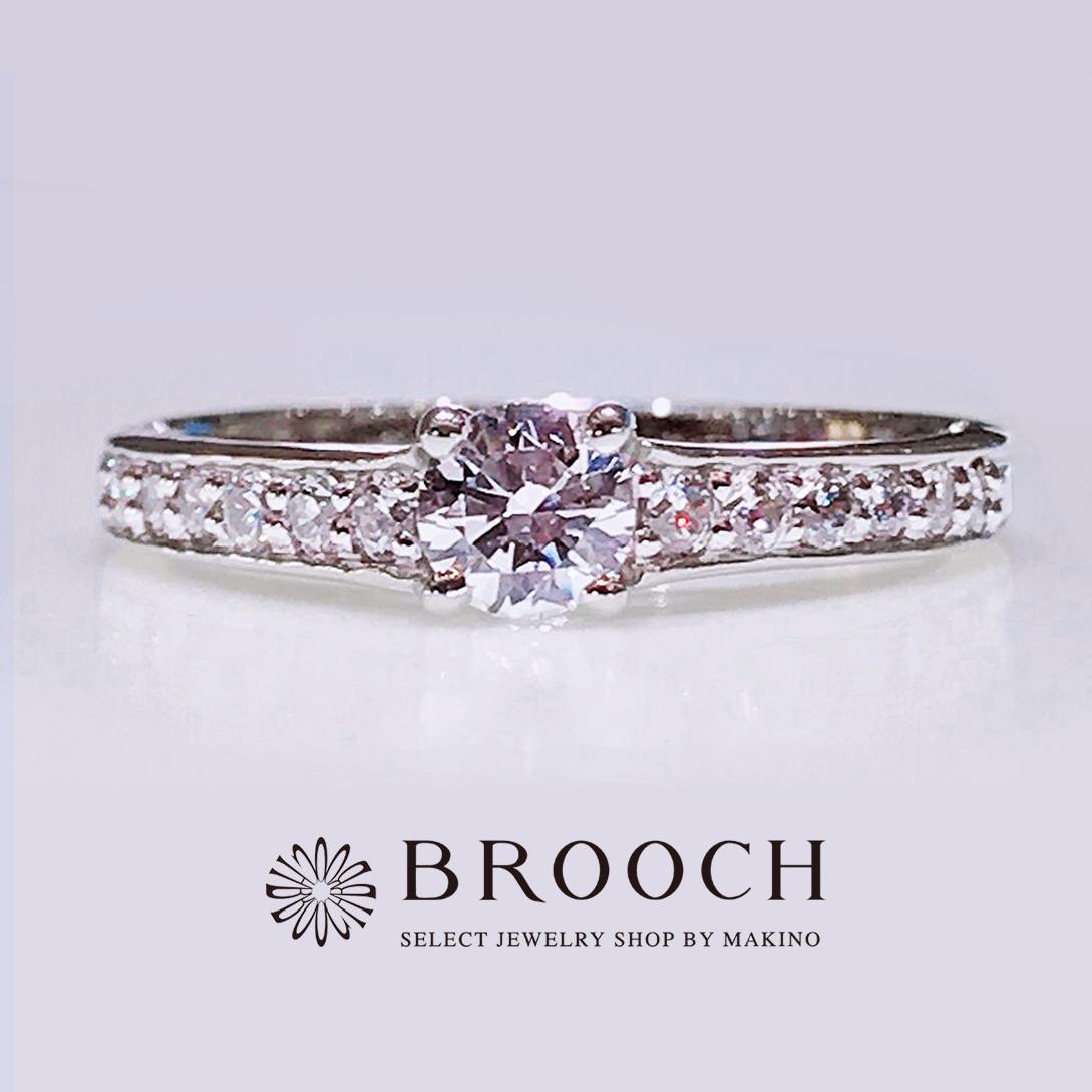 BROOCH 婚約指輪 エンゲージリング ダイヤモンドラインデザイン