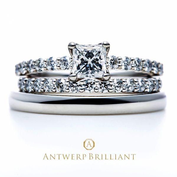 キラキラと煌めくダイヤモンドが美しいセットリングアントワープブリリアントディーライン