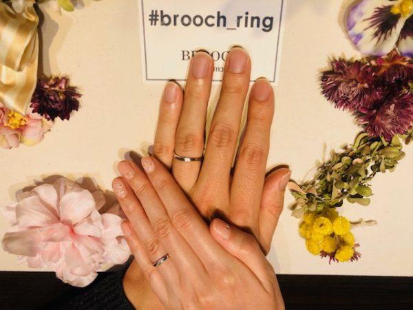 おふたりに選ばれたのは幸せを運ぶジンクスサムシングブルーの結婚指輪!