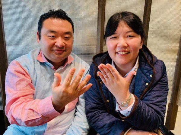 結婚10周年の記念リングはおふたりが気に入ったNIWAKAの禅の輪