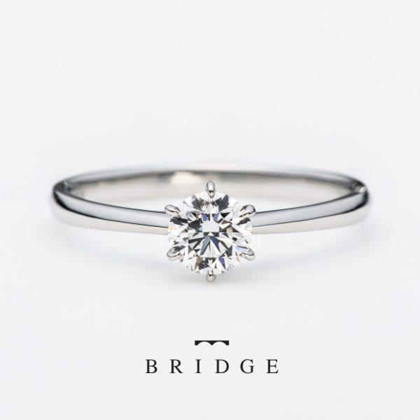 シンプルで王道の婚約指輪のデザインシンプルで女性の憧れのカタチはBRIDGE一輪の薔薇
