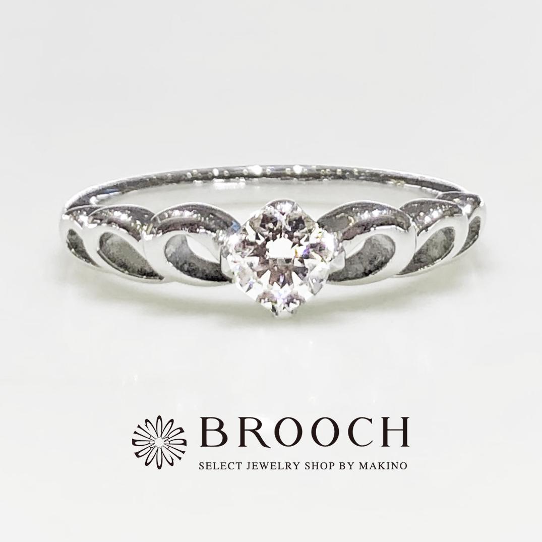 BROOCH 婚約指輪 エンゲージリング プリンセスティアラ風デザイン