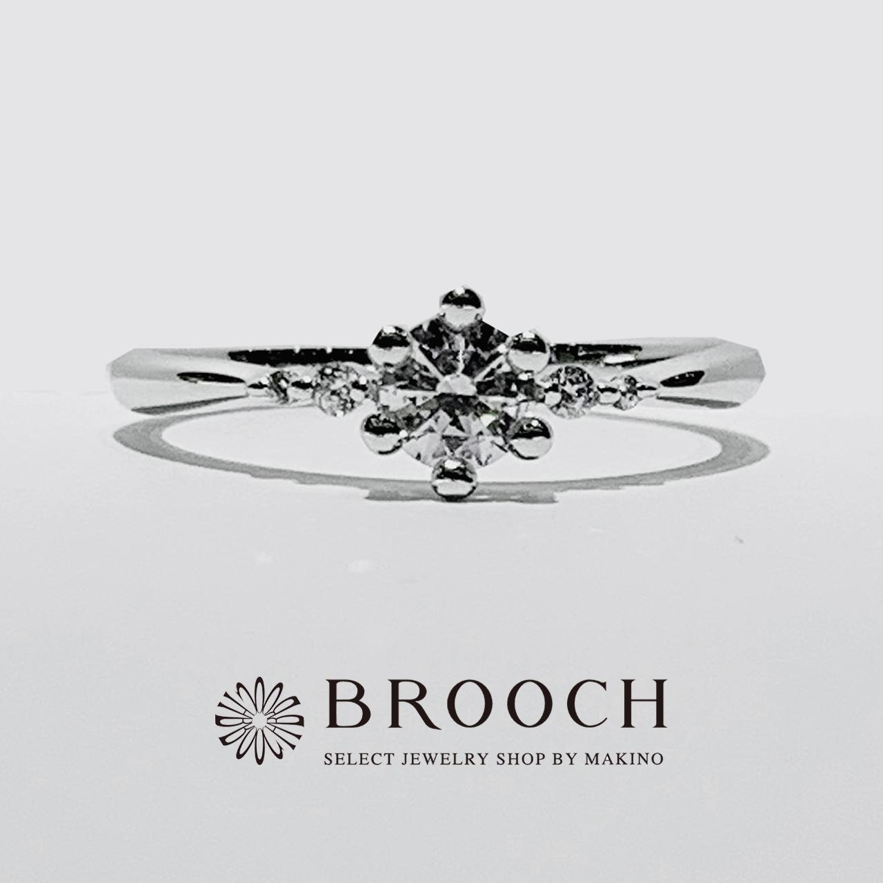 BROOCH 婚約指輪 エンゲージリング 王冠風デザイン