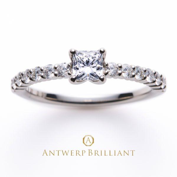 ダイヤモンドの輝きが美しいアントワープブリリアントのプリンぜすかっとダイヤモンドデザインD-Line