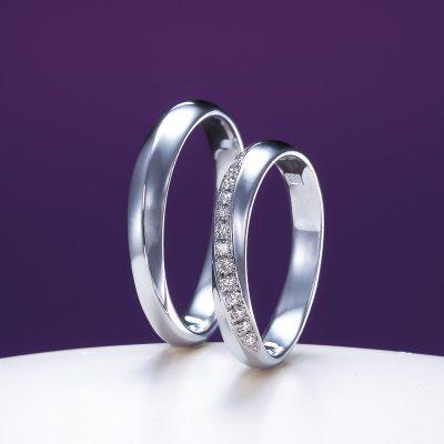 新潟の花嫁様に大人気の和風の結婚指輪(マリッジリング)はダイヤモンドが美しい俄(にわか)の綺羅(きら)
