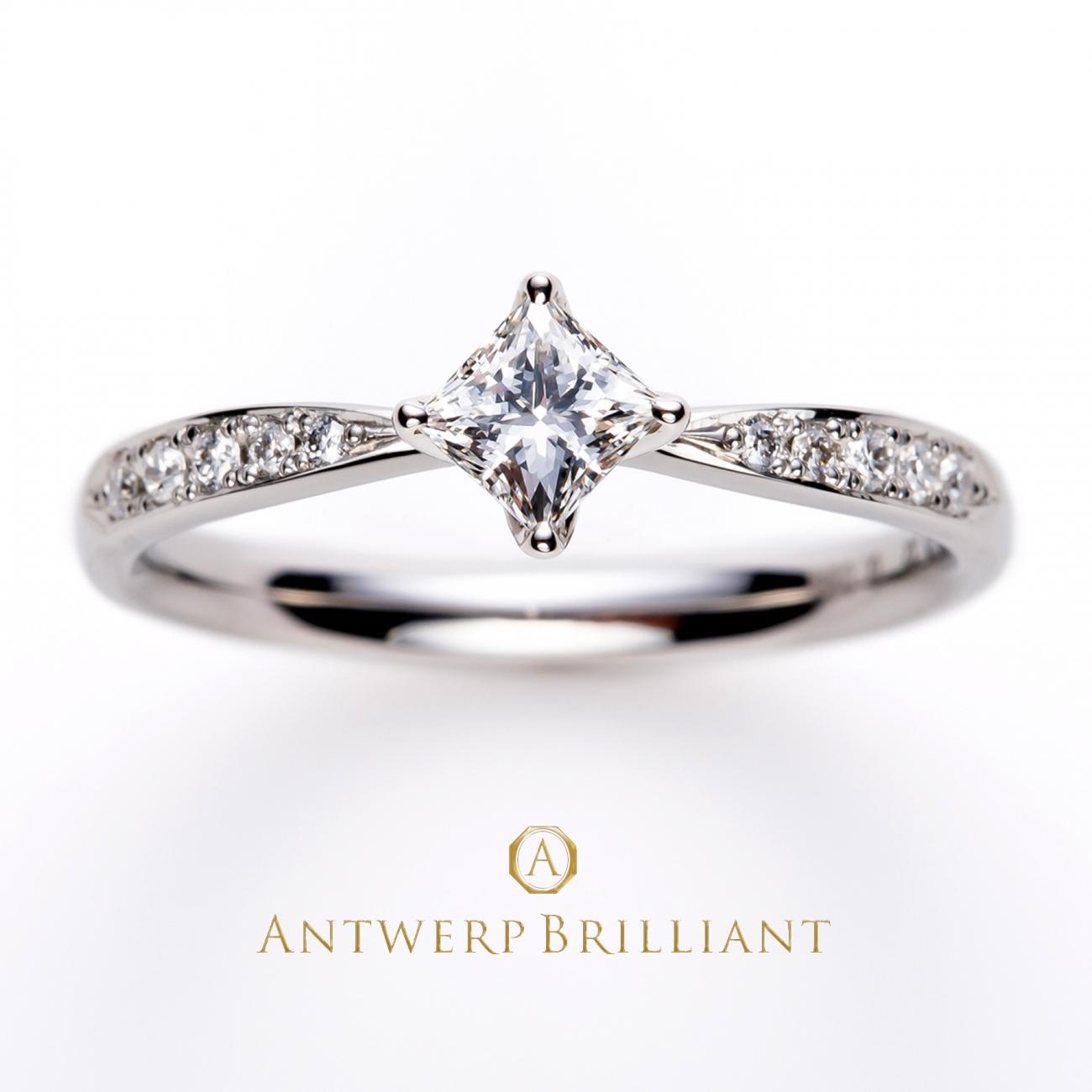 星モチーフの婚約指輪きらきら輝くエンゲージリングをさがすならアントワープブリリアントのシリウス