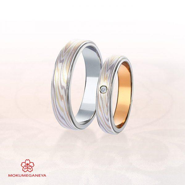 木目模様が美しい和風結婚指輪